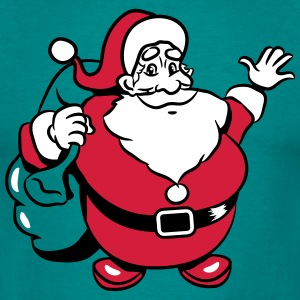 Christmas Santa Claus waving T-Shirts - Men's T-Shirt
