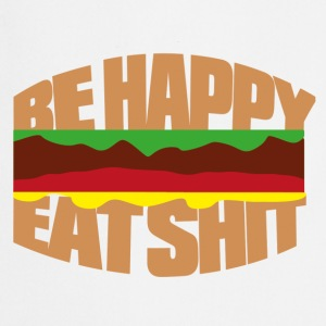Hamburger be happy eat shit Fartuchy - Fartuch kuchenny