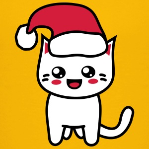 Kawaii Kitteh Christmas T-Shirts - Kinder Premium T-Shirt