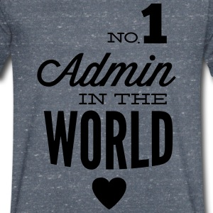 The best Admin in the world T-Shirts - Men's V-Neck T-Shirt