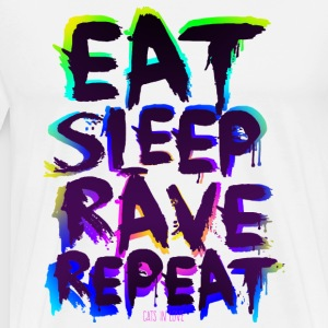 Eat Sleep Rave Repeat for White Shirts - Männer Premium T-Shirt