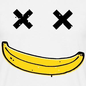 Dead Funny Smiley Banana face T-Shirts - Men's T-Shirt
