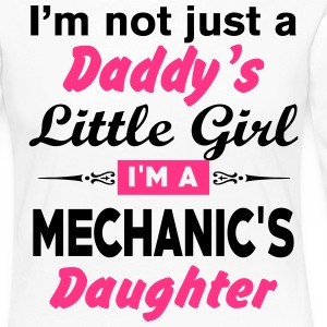 Im Not A Daddy Little Girl Im A Mechanic Daughter Long Sleeve Shirts - Women's Premium Longsleeve Shirt