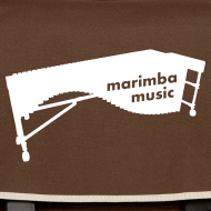 Motiv ~ Marimba Music (weiß) Umhängetasche