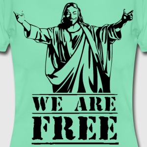 Guy Fawkes We Are Free T-Shirts - Women's T-Shirt