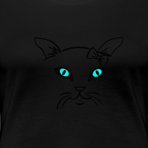 Katze single by Claudia-Moda - Frauen Premium T-Shirt