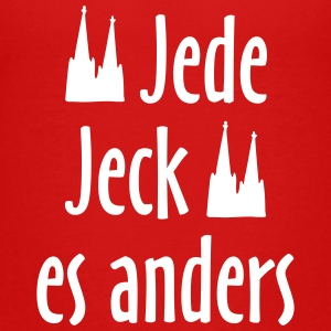 Jede Jeck es anders O.Z. (Weiß) Teenager T-Shirt - Teenager Premium T-Shirt