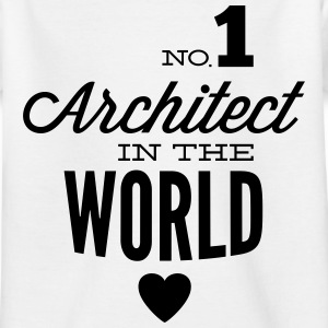 Best architect in the world Shirts - Kids' T-Shirt