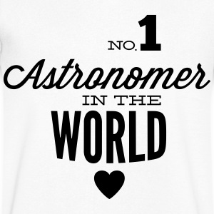 Best astronomer in the world T-Shirts - Men's V-Neck T-Shirt