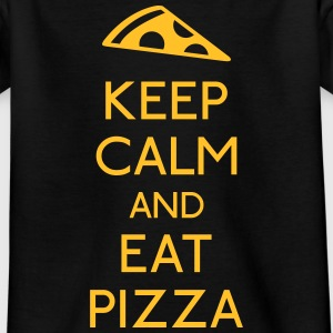 Keep Calm Pizza houden kalm pizza Shirts - Teenager T-shirt