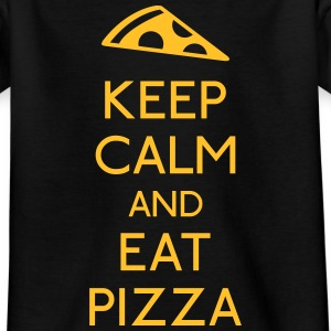 Keep Calm Pizza holde roen pizza T-shirts - Teenager-T-shirt