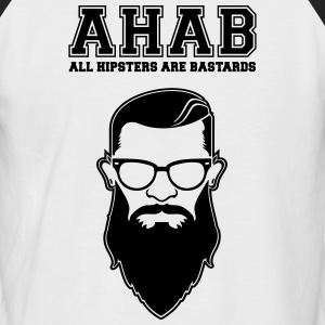 ALL HIPSTERS ARE BASTARDS - Funny Parody  T-Shirts - Men's Baseball T-Shirt