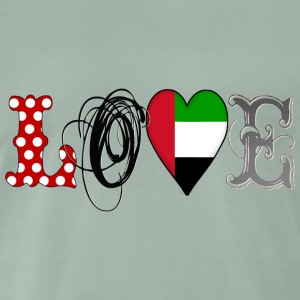 Love UAE Black - Männer Premium T-Shirt