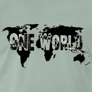One World - Black / White - Männer Premium T-Shirt
