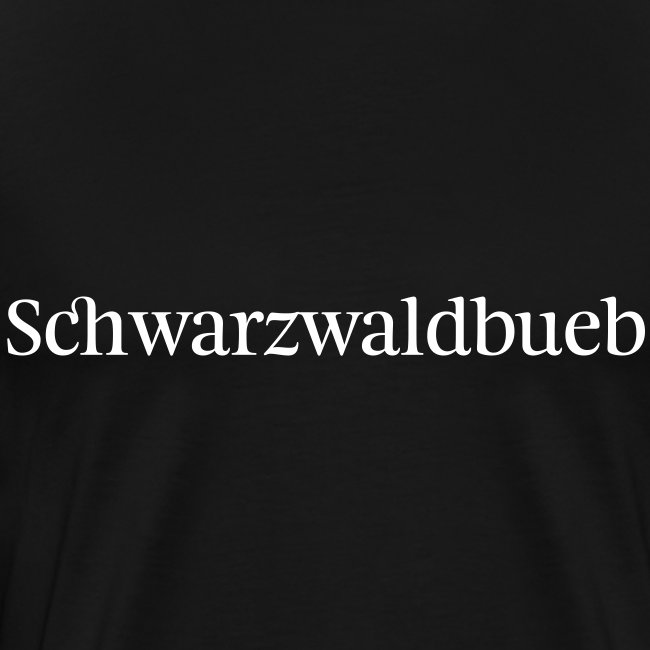 Schwarzwaldbueb - schwarz