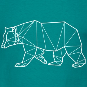 T-Shirt Ours Blanc - Animal Prism - T-shirt Homme