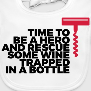 We have to save the wine from his bottle! Baby Bibs - Baby Organic Bib