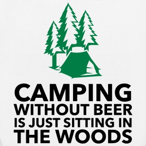 Camping is not possible without beer! Bags & Backpacks - EarthPositive Tote Bag