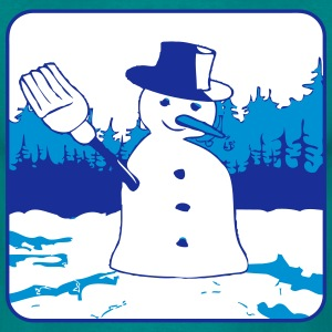 winter snow snowman T-Shirts - Men's T-Shirt