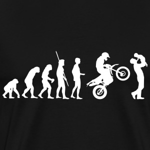 Evolution Enduro with father and child T-Shirts - Men's Premium T-Shirt
