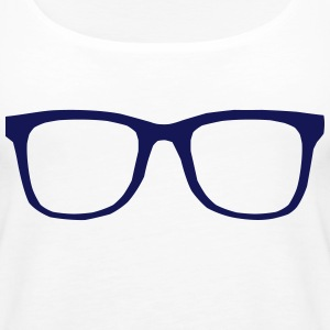 hipster brille Tops - Frauen Premium Tank Top