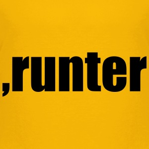 Komma runter T-Shirts - Teenager Premium T-Shirt