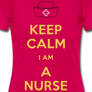 keep calm nurse T-Shirts - Dame-T-shirt