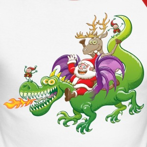 Santa Claus Changed his Reindeer for a Dragon Long sleeve shirts - Men's Long Sleeve Baseball T-Shirt