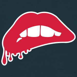 Lip Biting Art T-Shirts - Men's T-Shirt