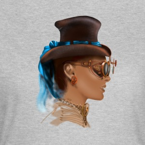 Girl face steampunk T-skjorter - T-skjorte for kvinner