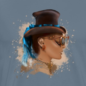 Girl face steampunk T-shirts - Herre premium T-shirt