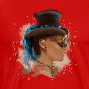 Girl face steampunk T-shirts - Mannen Premium T-shirt