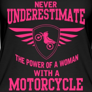 The power of a woman with a motorcycle Tops - Frauen Bio Tank Top