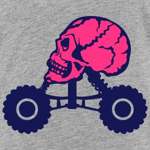 Monster truck death profile skull Shirts - Teenage Premium T-Shirt