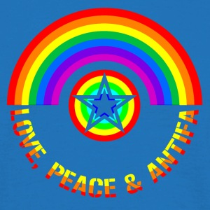 Love, Peace & Antifa - Männer T-Shirt