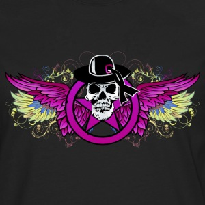 Skull wing dead multicolor Long sleeve shirts - Men's Premium Longsleeve Shirt