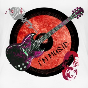 I am music rot T-Shirts - Frauen Premium T-Shirt