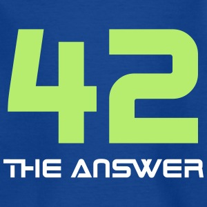 42 the answer Science Fiction Alien UFO Big Bang - Kinder T-Shirt