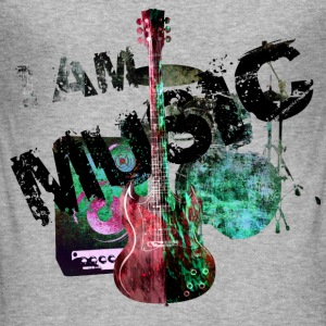 I am music rot grün T-Shirts - Männer Slim Fit T-Shirt