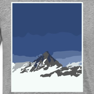 snowy mountain peaks T-Shirts - Men's Premium T-Shirt