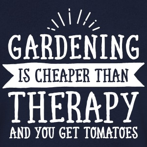 Gardening Is Cheaper Than Therapy... Camisetas - Camiseta de pico hombre
