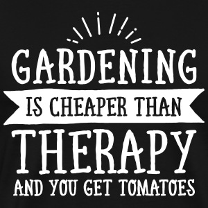 Gardening Is Cheaper Than Therapy... T-shirts - Herre premium T-shirt