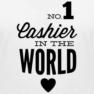 Best cashier of the world T-Shirts - Frauen T-Shirt mit V-Ausschnitt