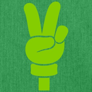 Peace Handzeichen / peace  hand sign (1c) Bags & Backpacks - Shoulder Bag made from recycled material
