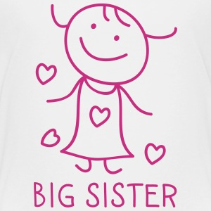 Big Sister Skjorter - Premium T-skjorte for barn
