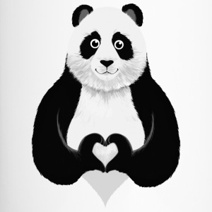 Cute Panda Heart Hand Sign Bouteilles et Tasses - Mug thermos