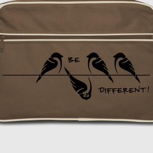 sparrow 'be different' Bags & Backpacks - Retro Bag