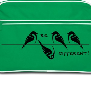 sparrow 'be different' Tassen & rugzakken - Retro-tas