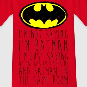 Batman Logo White Chalk Kinder Langarmshirt - T-skjorte for barn
