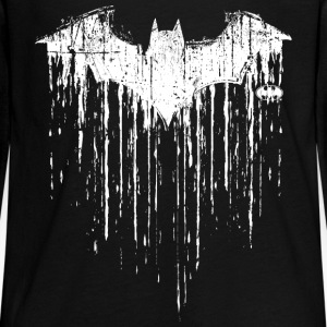 Batman Logo White Milk Glass Teenager Langarmshirt - Teenager Premium Langarmshirt